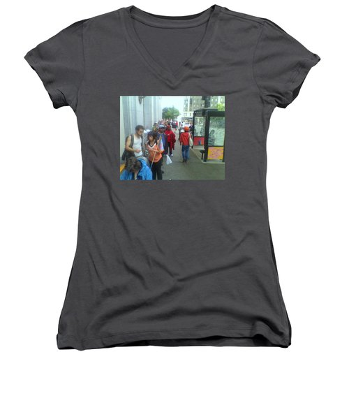 Street Scene Women's V-Neck (Athletic Fit)