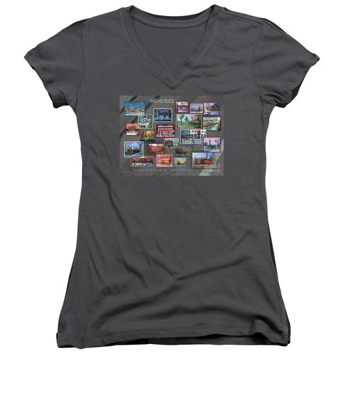 Streets Full Of Memories Women's V-Neck T-Shirt