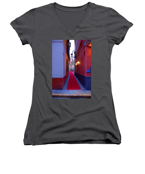 Streets Of Seville - Red Carpet  Women's V-Neck