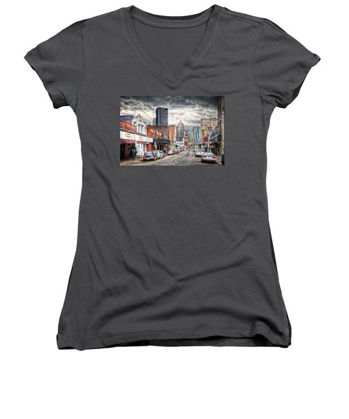 Strip District Pittsburgh Women's V-Neck (Athletic Fit)