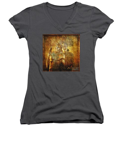 Stripped Of His Garments Via Dolorosa 10 Women's V-Neck (Athletic Fit)