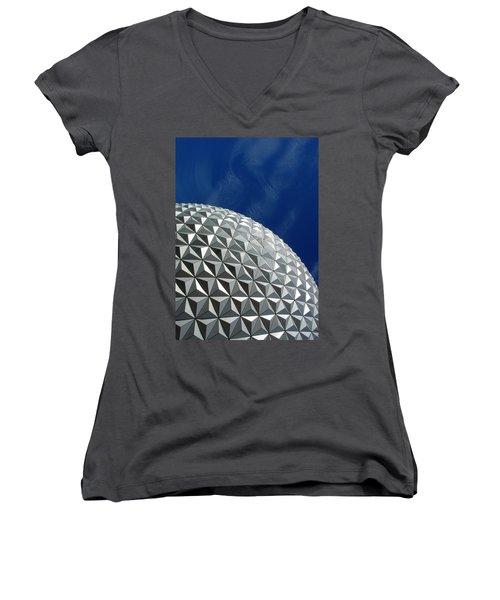 Women's V-Neck T-Shirt (Junior Cut) featuring the photograph Structural Beauty by David Nicholls