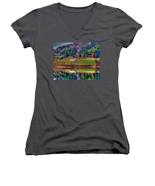 Sugar Grove Reflection Women's V-Neck T-Shirt