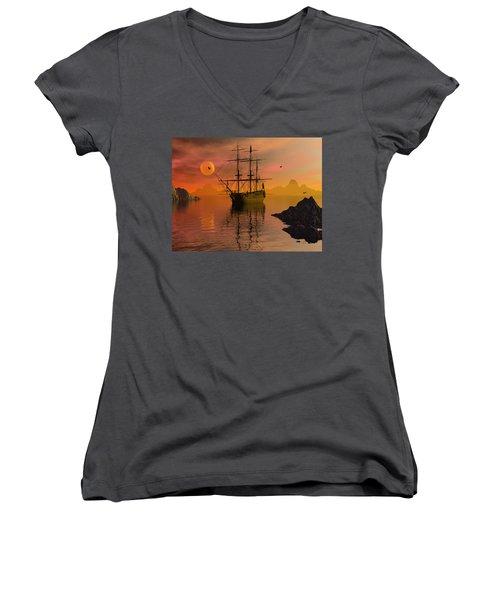 Summer Anchorage Women's V-Neck T-Shirt
