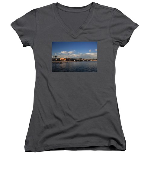 Summer Evenings In Santa Cruz Women's V-Neck