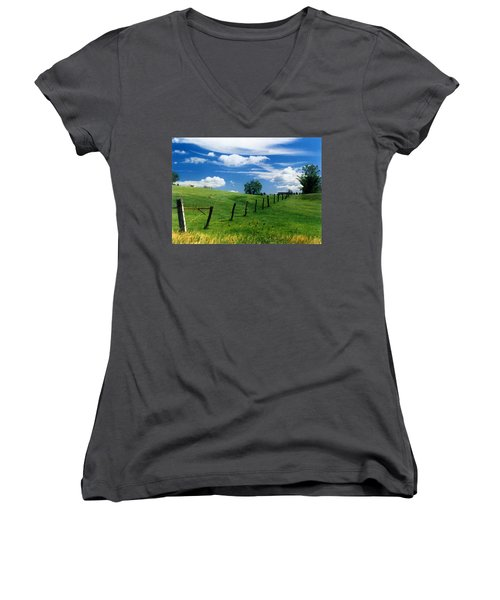 Summer Landscape Women's V-Neck T-Shirt