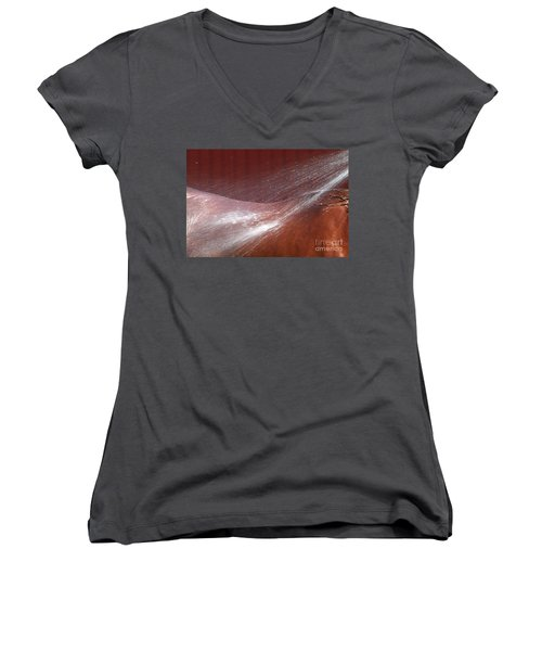 Cooling Off Women's V-Neck T-Shirt (Junior Cut) by Michelle Twohig