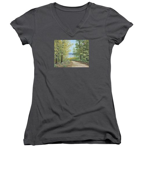 Summer Woods Women's V-Neck (Athletic Fit)