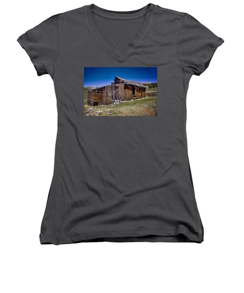 Summitville - Colorado Ghost Town Women's V-Neck (Athletic Fit)