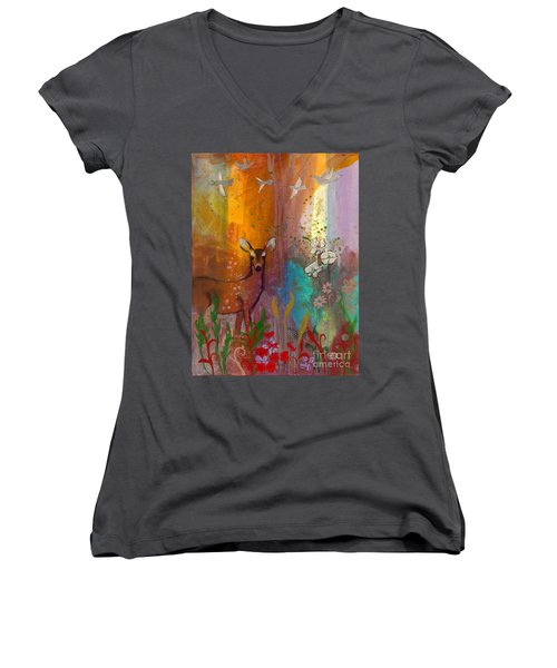 Sun Deer Women's V-Neck T-Shirt