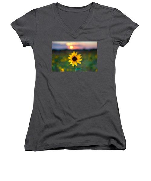 Sun Flower Iv Women's V-Neck