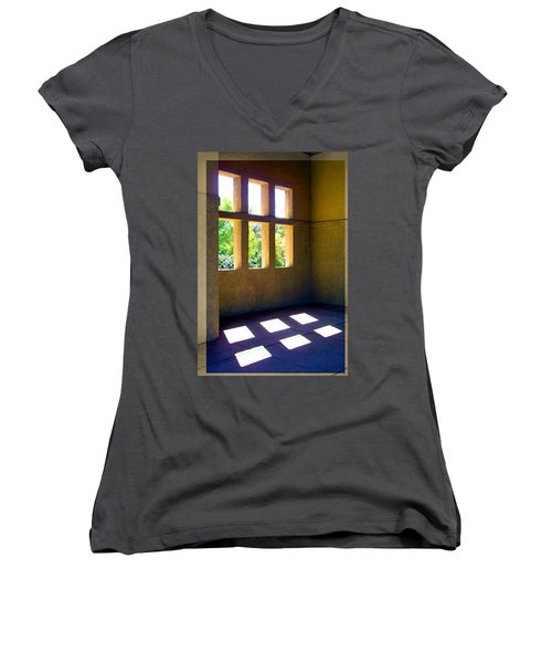 Sun Thru Windows Adobe Architecture Women's V-Neck