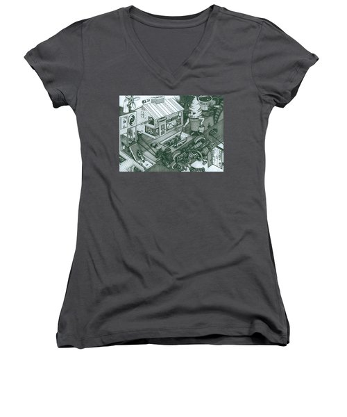 A Sundae In The Park With George Women's V-Neck T-Shirt
