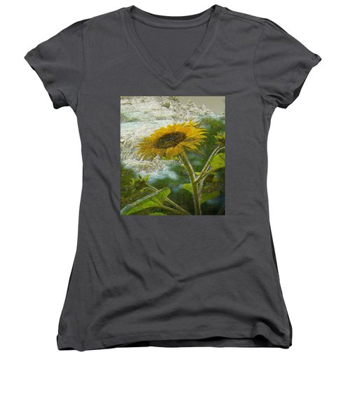 Sunflower Mountain Women's V-Neck T-Shirt