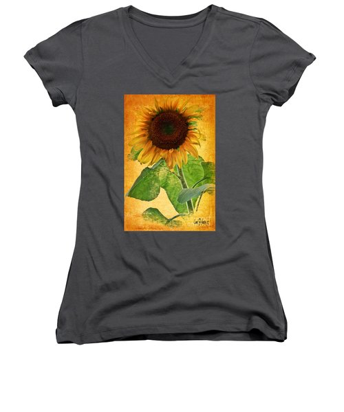 Sunny Sunflower Women's V-Neck T-Shirt