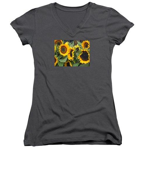 Sunflowers  Women's V-Neck T-Shirt