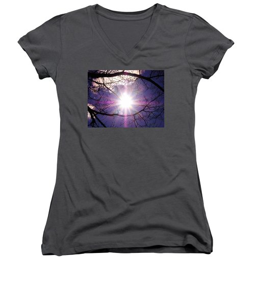 Women's V-Neck T-Shirt (Junior Cut) featuring the photograph Sunny Afternoon by Sherman Perry