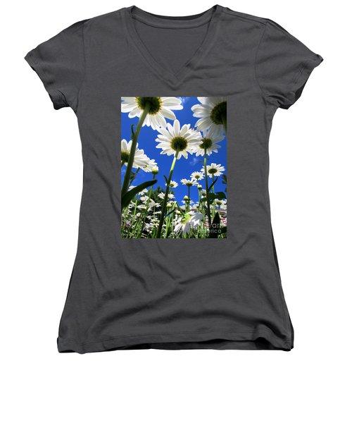 Sunny Side Up Women's V-Neck T-Shirt (Junior Cut)