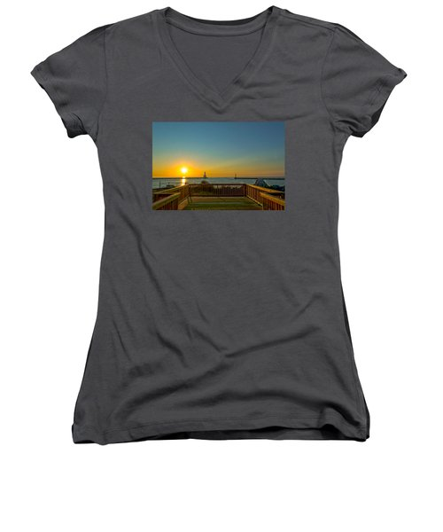 Sunrise Deck Women's V-Neck