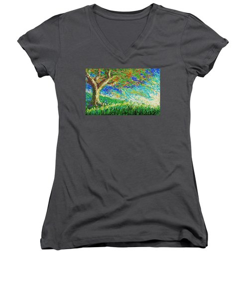 The War Of Wind And Sun Women's V-Neck
