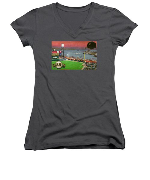Sunset At The Park Women's V-Neck T-Shirt