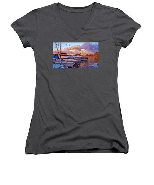 Sunset Before The Show Women's V-Neck T-Shirt