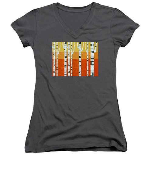 Sunset Birches Women's V-Neck