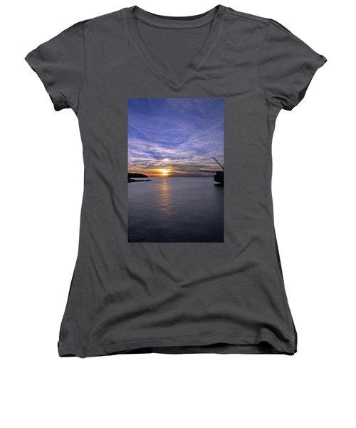 Sunset In Adriatic Women's V-Neck