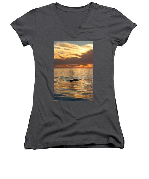 Sunset Wonder Women's V-Neck T-Shirt