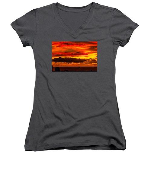 Sunset Wow2 Women's V-Neck