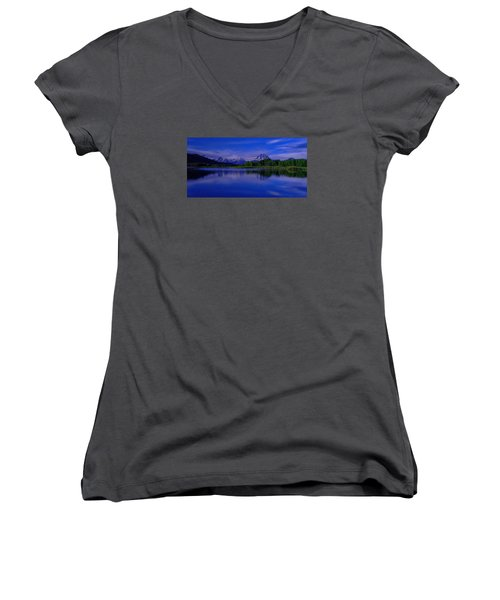 Super Moon Women's V-Neck T-Shirt