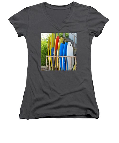 Surfer Dudes II Women's V-Neck T-Shirt