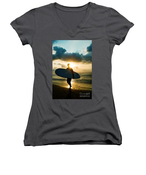 Surfer Women's V-Neck (Athletic Fit)