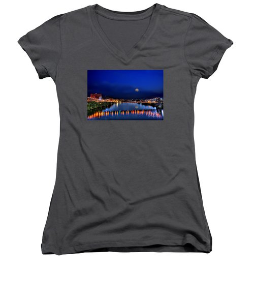 Suspension Bridge Women's V-Neck T-Shirt
