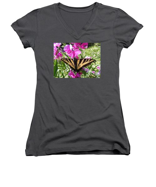 Swallowtail Women's V-Neck (Athletic Fit)