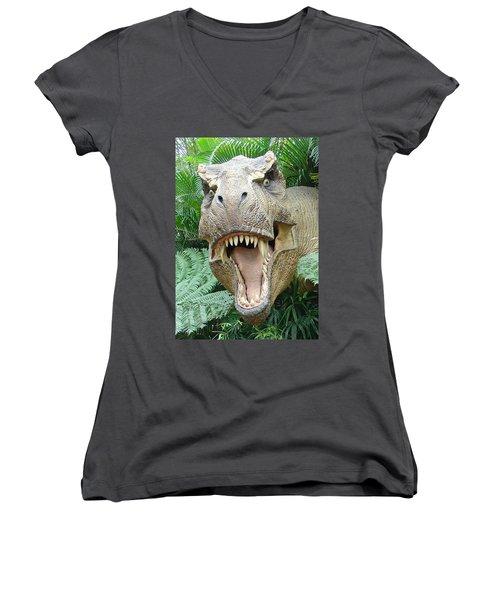 T-rex Women's V-Neck (Athletic Fit)