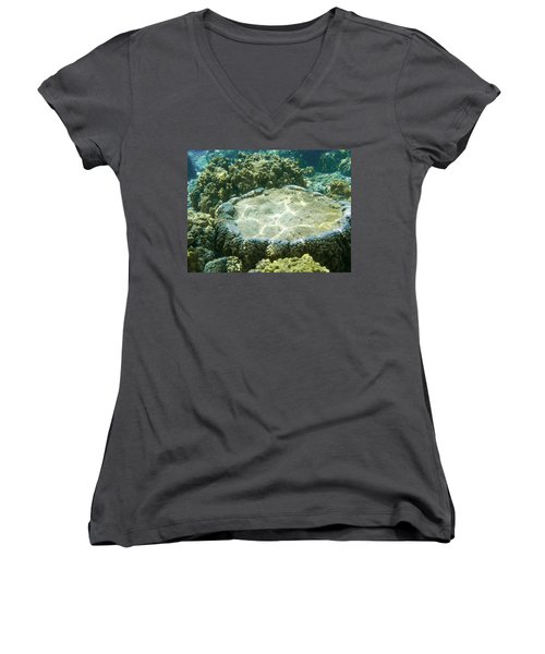 Table Top Coral Women's V-Neck