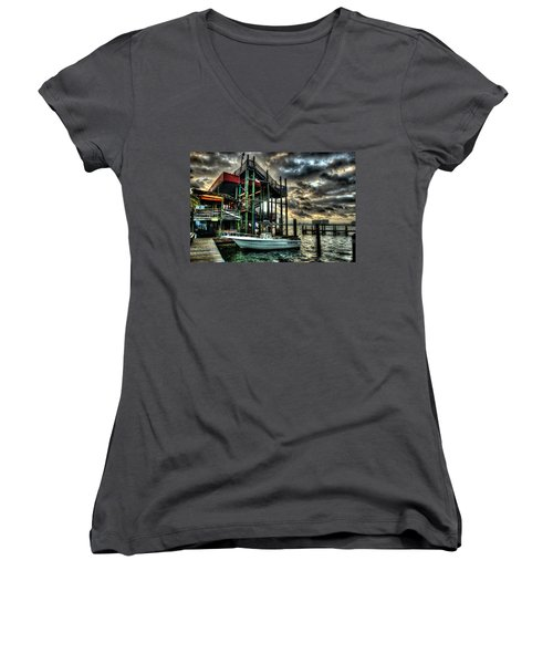 Tacky Jack Morning Women's V-Neck T-Shirt (Junior Cut) by Michael Thomas