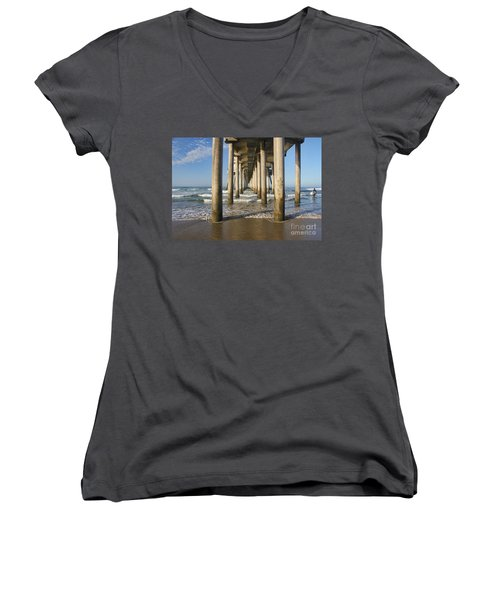 Women's V-Neck T-Shirt (Junior Cut) featuring the photograph Take A Break by Tammy Espino