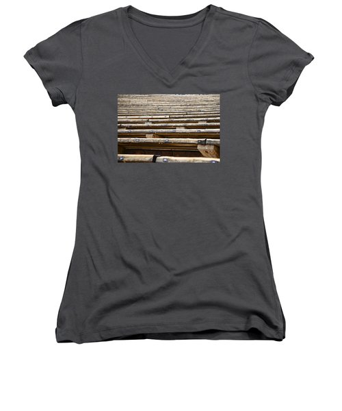 Take A Seat Women's V-Neck T-Shirt (Junior Cut) by Charlie Brock