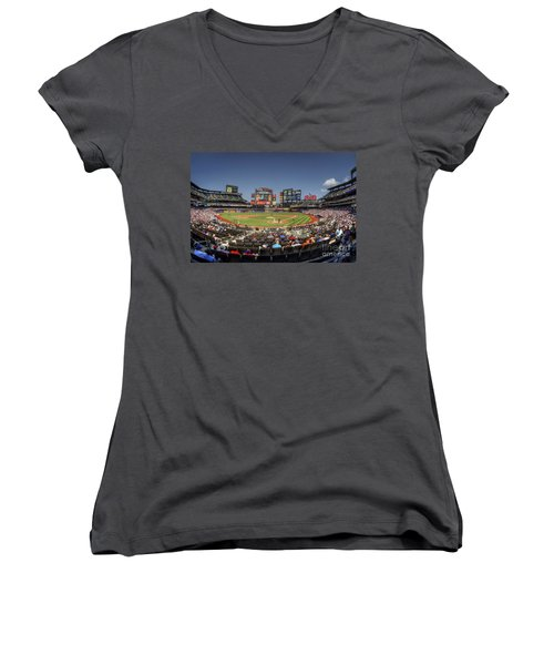 Take Me Out To The Ballgame Women's V-Neck T-Shirt