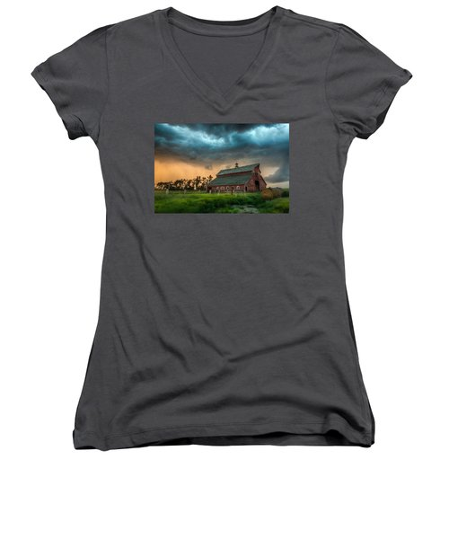 Take Shelter Women's V-Neck T-Shirt