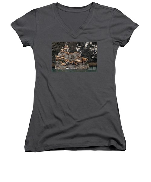 Takin' It Easy Women's V-Neck T-Shirt