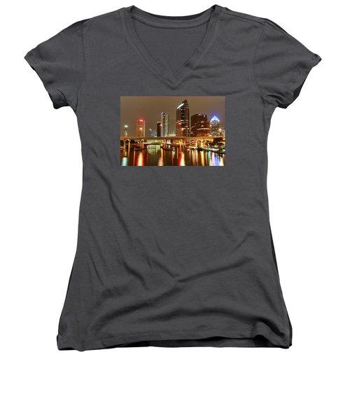 Tampa Skyline Women's V-Neck
