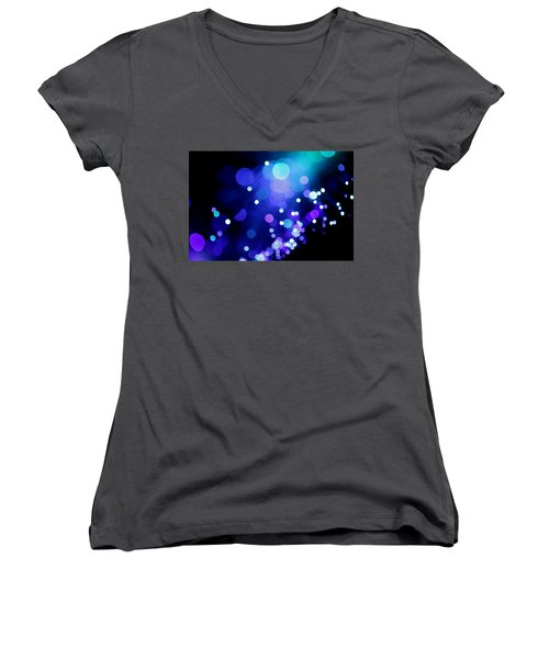 Tangled Up In Blue Women's V-Neck T-Shirt