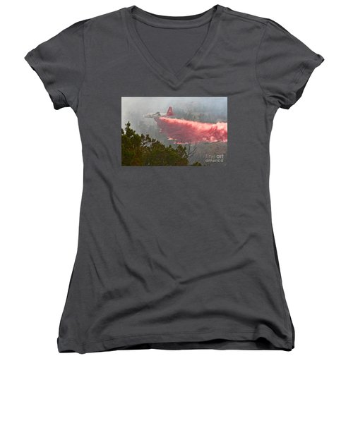 Tanker 07 On Whoopup Fire Women's V-Neck (Athletic Fit)
