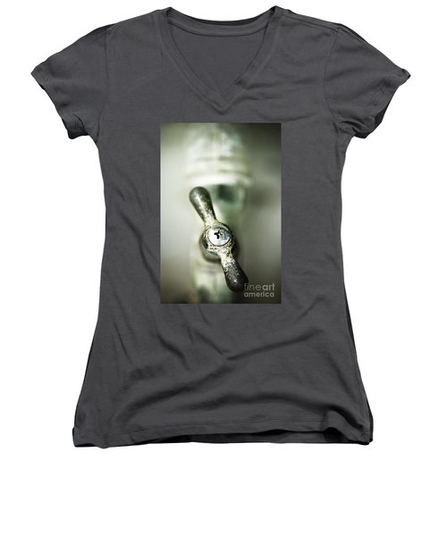 Women's V-Neck T-Shirt (Junior Cut) featuring the photograph Tap Into Your Life by Trish Mistric