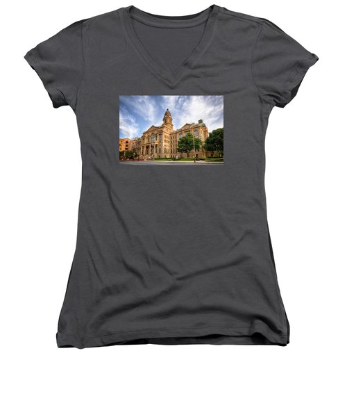 Tarrant County Courthouse II Women's V-Neck