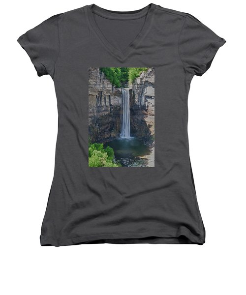 Taughannock Falls  0453 Women's V-Neck (Athletic Fit)