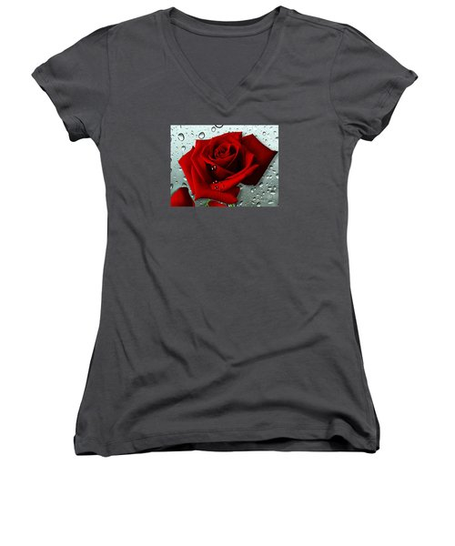 Tears From My Heart Women's V-Neck (Athletic Fit)